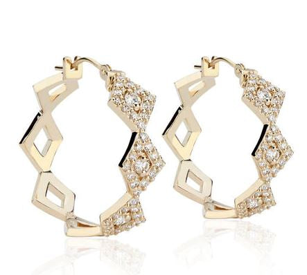 Lucia Diamond Pave Hoops