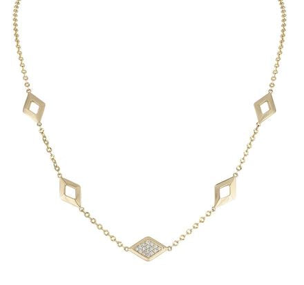 Lucia 5 Station Necklace with Diamonds