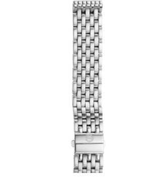 Two-Tone 18mm Michele Deco Deployment Bracelet