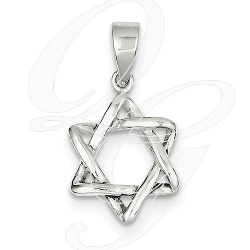 Sterling Silver 3D Star of David Pendant