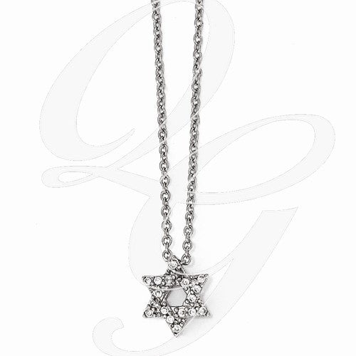 Sterling Silver CZ Star of DavidPendant - from Holsten Jewelers