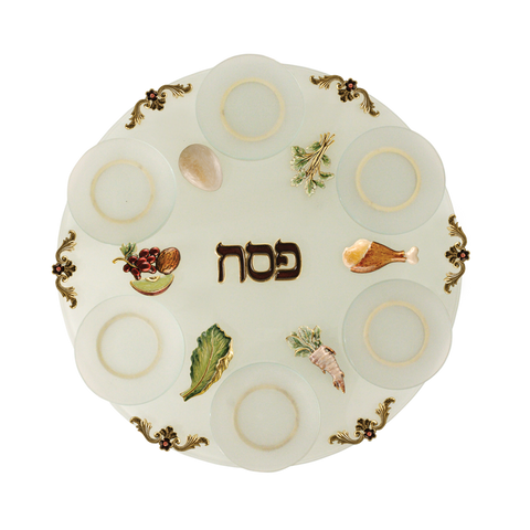 Glass Seder Plate by Quest - from Holsten Jewelers