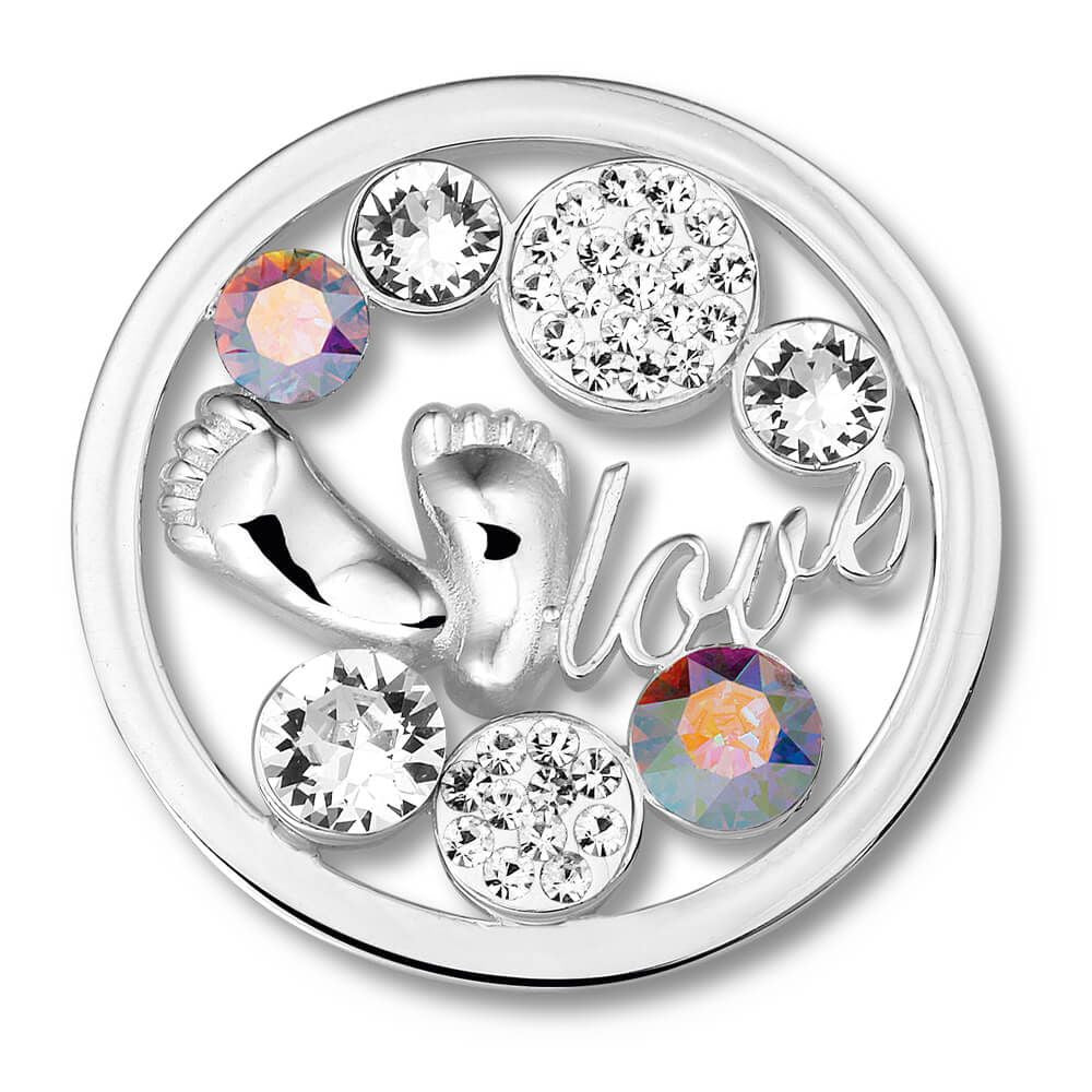 Baby Feet Crystal Charm with Swavorski Crystal Elements - from Holsten Jewelers