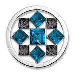 Bella Pacific Blue Charm with Swarovski Crystal ELements - from Holsten Jewelers