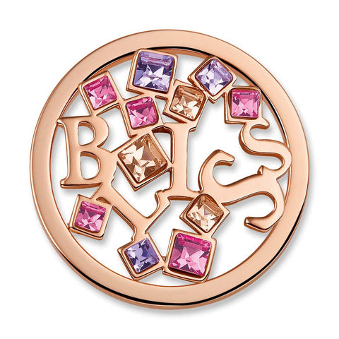 Bliss Peach Charm with Swarovski Crystal Elements - from Holsten Jewelers