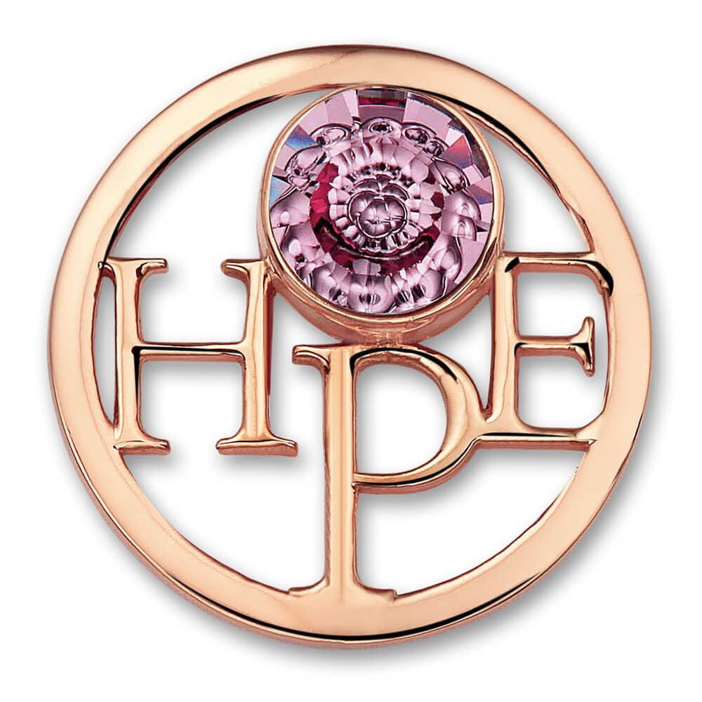 Rose Hope Charm with Swavovski Crystal Elements