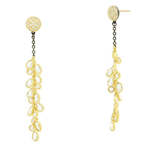 Frieda Rothman Midnight Cluster Drop Earring - from Holsten Jewelers