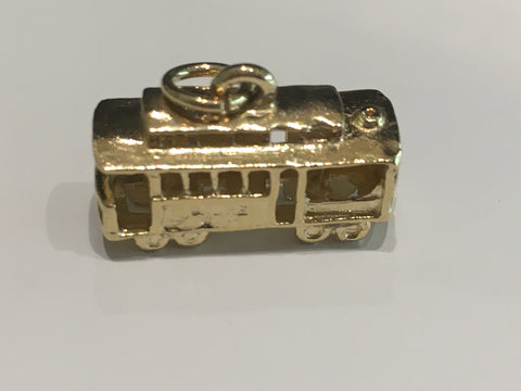 14k Yellow Gold San Francisco Cable Car Charm