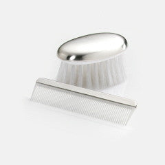 Sterling Silver Boys Comb & Brush Set