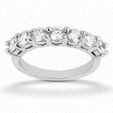 14kt White Gold Shared Prong Diamond Wedding Band - from Holsten Jewelers
