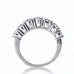 14kt White Gold & Diamond Shared Prong 7 Stone Ring - from Holsten Jewelers