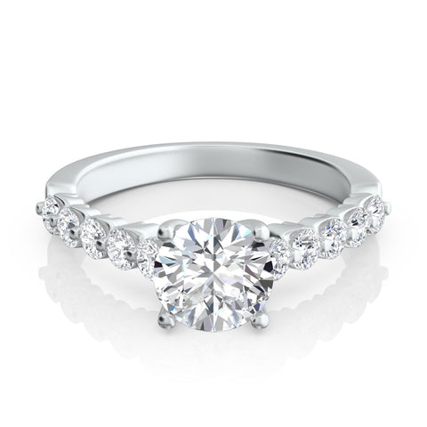"Eleven-Stone ""Royal Prong"" Diamond Engagement Ring"