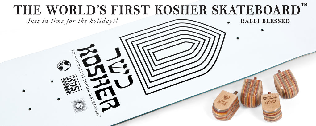 Darkstar Skateboards Worlds First Kosher Skateboard skate dreidel