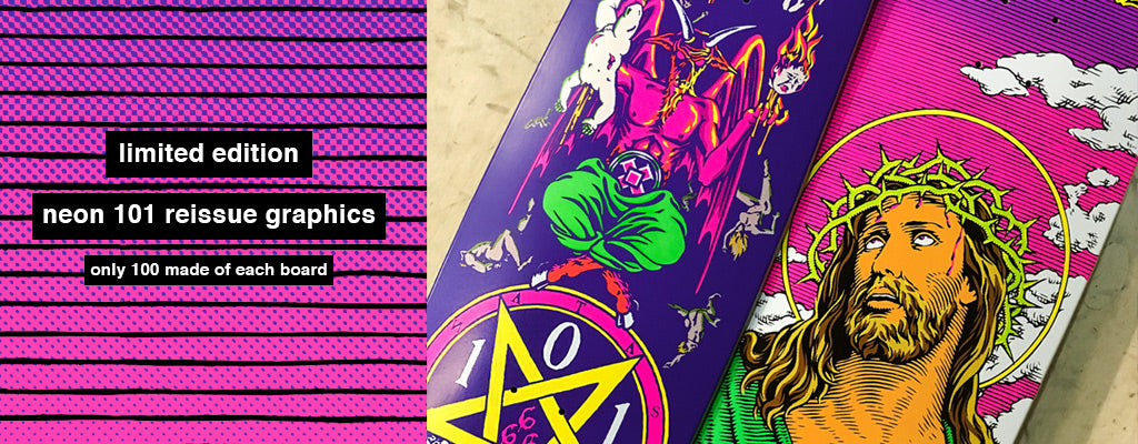 101 Skateboards Neon Limited Edition Natas Gabriel Reissue Graphics