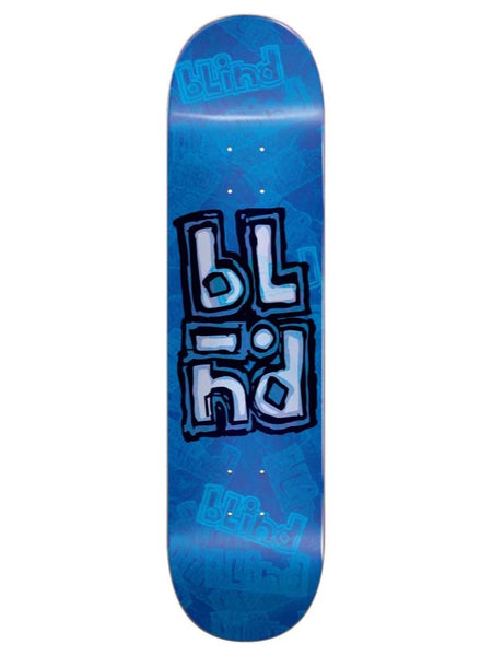 Blind OG Stacked Stamp 8.25 Blue Skateboard Deck