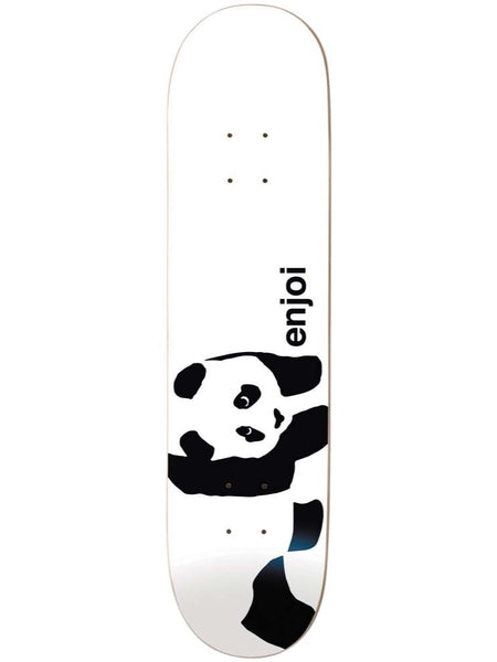 enjoi Whitey Panda Logo Wide White 8.5 R7 Skateboard Deck