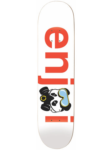 enjoi No Brainer Gas Mask White/Red 8.5 Skateboard Deck