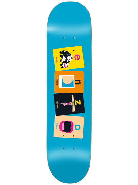 enjoi Enzo Flashcards R7 8.375 Skateboard Deck