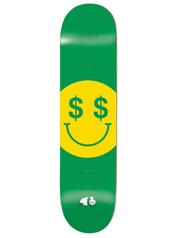enjoi Cash Money R7 Green 8.25 Skateboard Deck