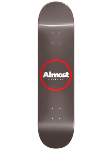 Almost Warm Grey Ring Logo 8.5 R7 Skateboard Deck