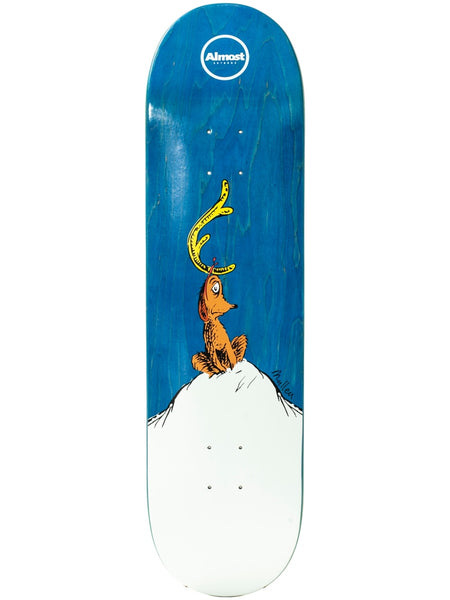 "Almost Mullen Grinch Dr. Seuss  8.25"" R7 Skateboard Deck"