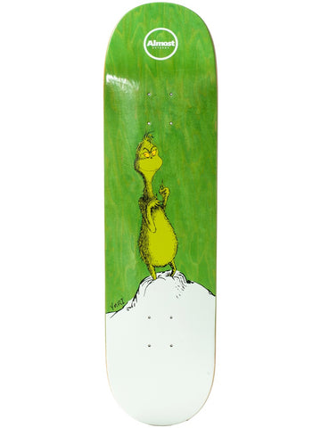 Almost Grinch Yuri 8.375 Green R7 Skateboard Deck