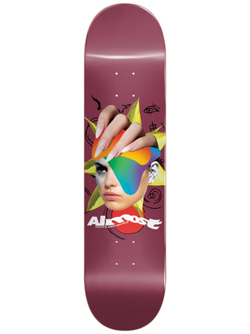 Almost Face Collage Red 8.25 R7 Skateboard Deck
