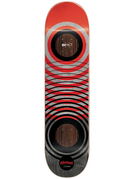 Almost Cooper Red Rings Impact 8.0 Skateboard Deck