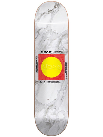 Almost Minimalist R7 White 8.5 Skateboard Deck