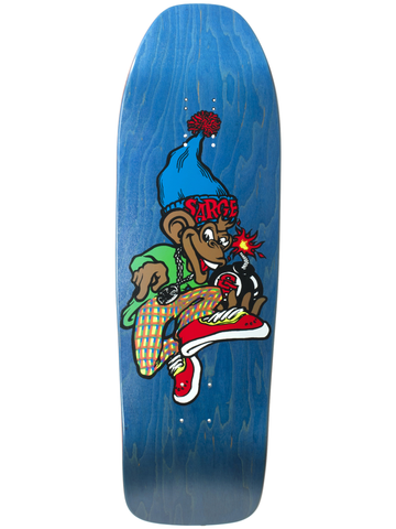 New Deal Sargent Monkey Bomber Blue 9.625 SP Skateboard Deck