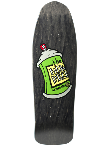 New Deal Spray Can Black 9.75 SP Skateboard Deck