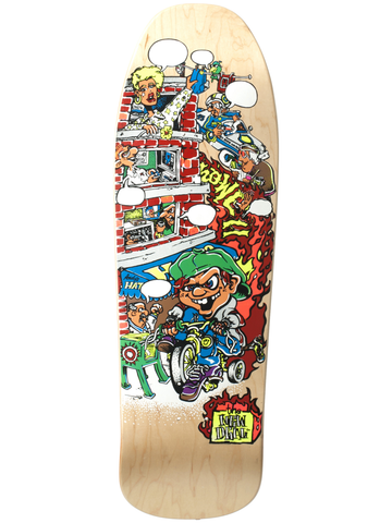 New Deal Howell Tricycle Kid Natural 9.625 SP Skateboard Deck