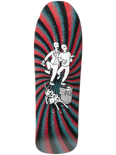 New Deal Douglas Chums 9.75 Maroon Screen Print Skateboard Deck