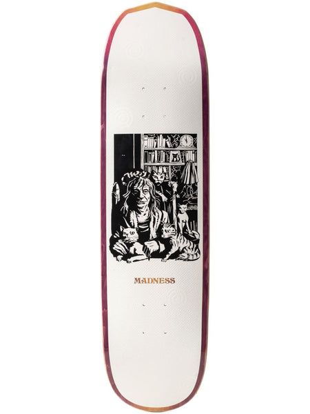 MADNESS skateboard deck.