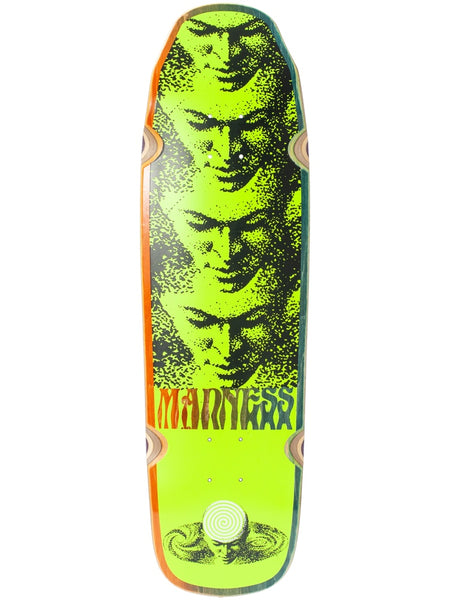 Madness Mind Universe Neon Yellow 9.0 R7 Skateboard Deck