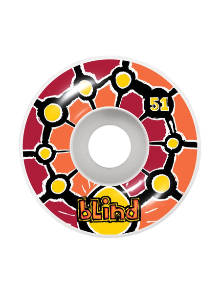 Blind Round Space V2 51mm Red/Orange Skateboard Wheels