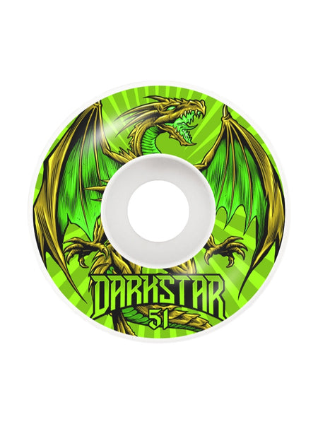 Darkstar Levitate 51mm Green Wheels