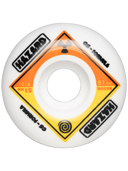 Hazard Bio CS : Radial White Wheels