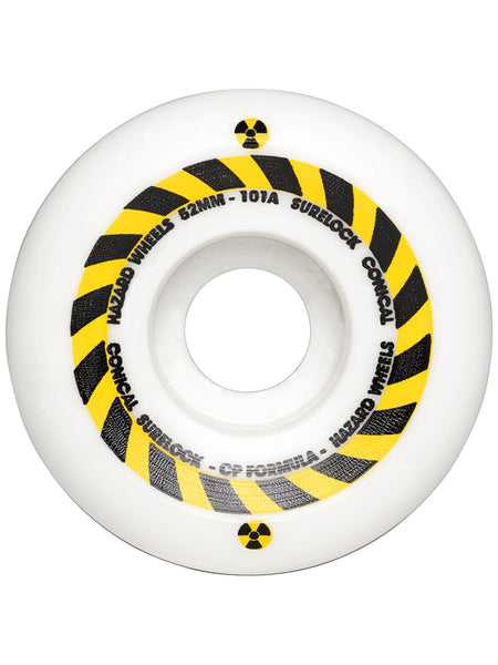 Hazard Sign CP+: Conical Surelock White Wheels