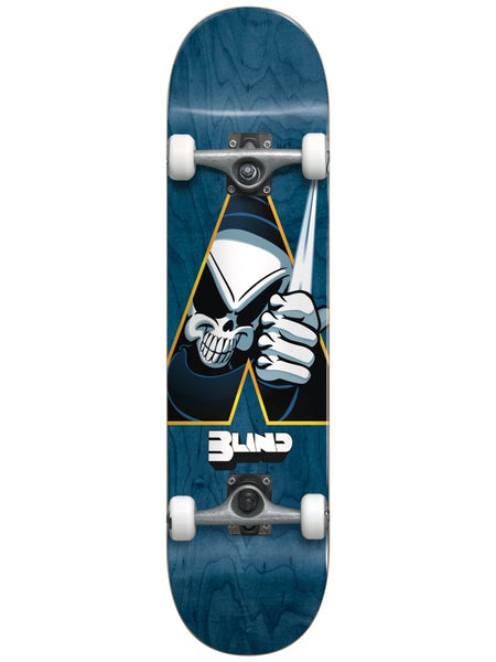 Blind Reaper Dagger Blue 7.75 First Push Premium Complete Skateboard