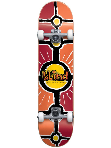 Blind Round Space V2 First Push Soft Wheels 7.0 Red/Orange Skateboard Complete