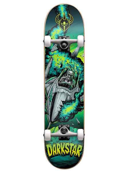 Darkstar Explode Youth First Push 7.0 w/Soft Wheels Green Skateboard Complete