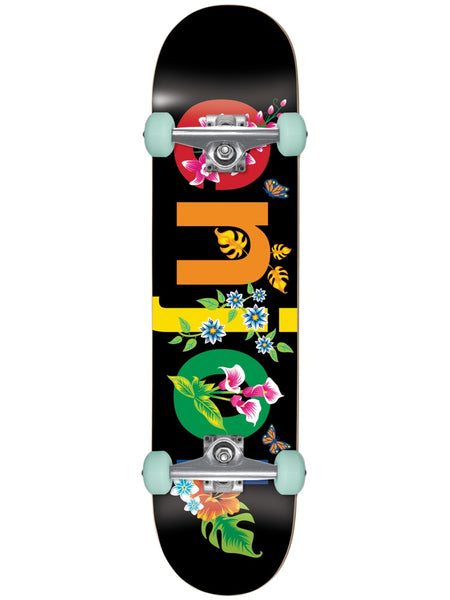 enjoi Flowers Resin Premium Black 8.0 Skateboard Complete