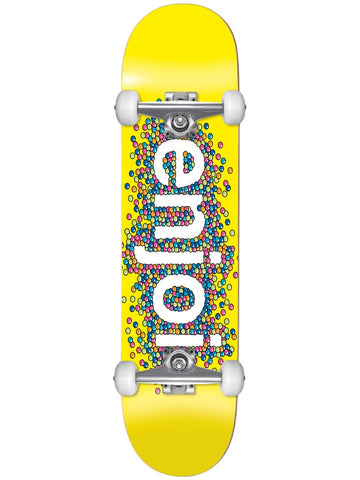 enjoi Candy Coated First Push 8.25 Yellow Skateboard Complete