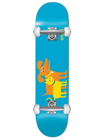 enjoi Cat & Dog Youth First Push Blue 7.0 Complete Skateboard MINI