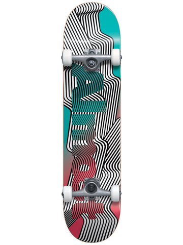 Almost Out There Teal/Melon 8.125 First Push Complete Skateboard
