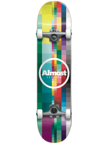 "Almost Rasterized 8.25"" Multi First Push Complete Skateboard"