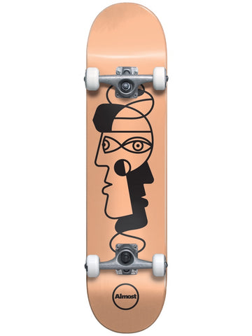 Almost Twisted Outline Youth Resin w/Soft Wheels Peach 7.25 Skateboard Complete MID