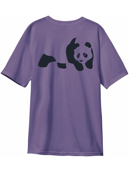 enjoi premium panda custom dye grape short sleeve premium tshirt