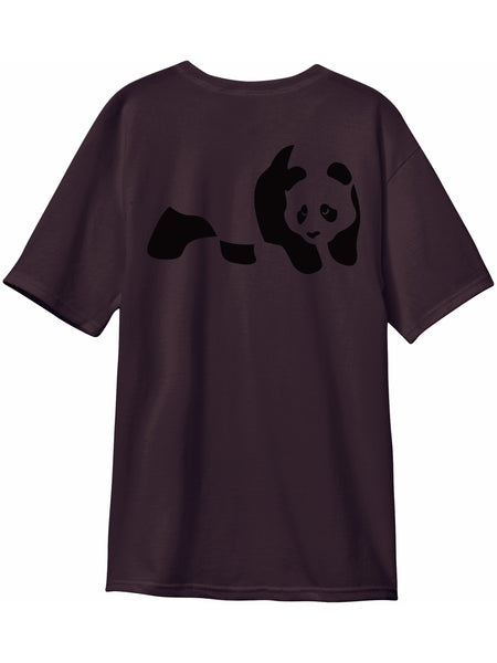 enjoi premium panda custom dye wine short sleeve tshirt